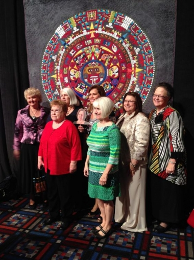 """The Amazing Aztec-nicolor Dream Quilt -- by """"The Amazing Eight"""""""