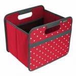 Meori Foldable Box In Hibiscus Red Dot - Small (10 1/4 x 12 3/4 x 10 3/4 Inches)