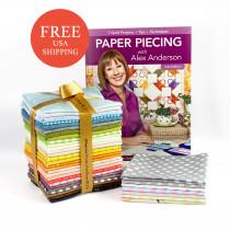Paper Piecing Quilt Stash-Builder Bundle & Book