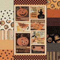 Retro Halloween Fat Quarter Bundle & Panel