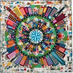 Color My World 2021 Block Of The Month Kit - Art History 101 Background