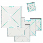Complete Fussy Cut Ruler Set by Quilt In A Day