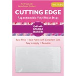 Cutting Edge Repositionable Vinyl Ruler Stops By Qtools