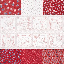 Naptime Red Fat Quarter Bundle and Panel