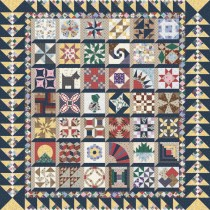 Granny's 1930 Sampler - Navy & Yellow