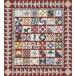 Granny's 1930 Sampler Kit #1 - Red & Tan from Lizzy Albright and the Attic Window - NO Pattern Book