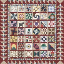 Granny's 1930 Sampler - Red & Tan