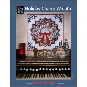 Lizzy Albright Holiday Charm Wreath Pattern