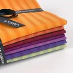 Longshott Stripe 8 Piece Fat Quarter Bundle By Oakshott Fabrics