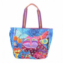 Cats With Butterflies Shoulder Tote