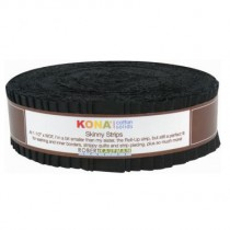 Black Kona Cotton Skinny Strips