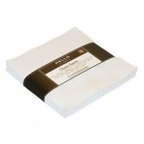 White Kona Cotton Charm Pack