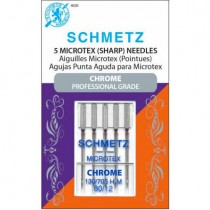 Schmetz Chrome Microtex Needles