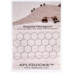 3/4 Inch (2 cm) Fusible Hexagons - 500 pack By Apliquick