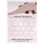 1 Inch (2.5 cm) Fusible Hexagons - 500 pack By Apliquick