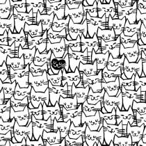 Packed Cats Quilt Back By The Yard