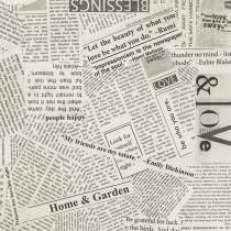 Newsprint Quilt Back By The Yard