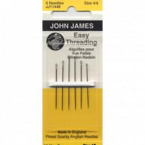 Easy Threading Needles Size 4/8 by John James