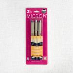 Pigma Micron Pen Set 3 Sizes - Black