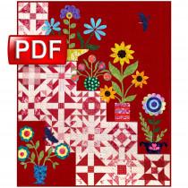 My Flower Garden Quilt Pattern PDF Download