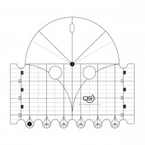 Quilters Select Arc Machine Quilting Ruler 6 & 1 Inch