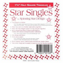 Star Singles Half Square Triangle Papers