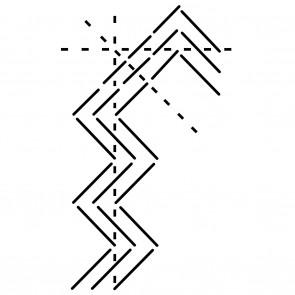 Ultimate Border Stencil - Zig Zag