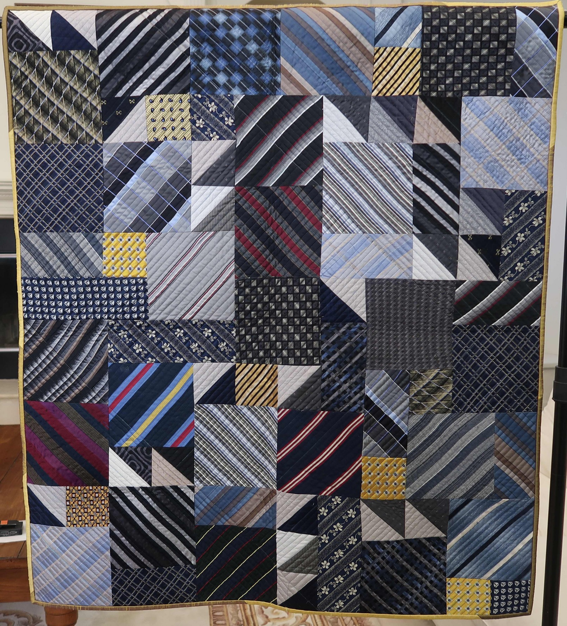 Silk Tie Quilt by Alex Anderson