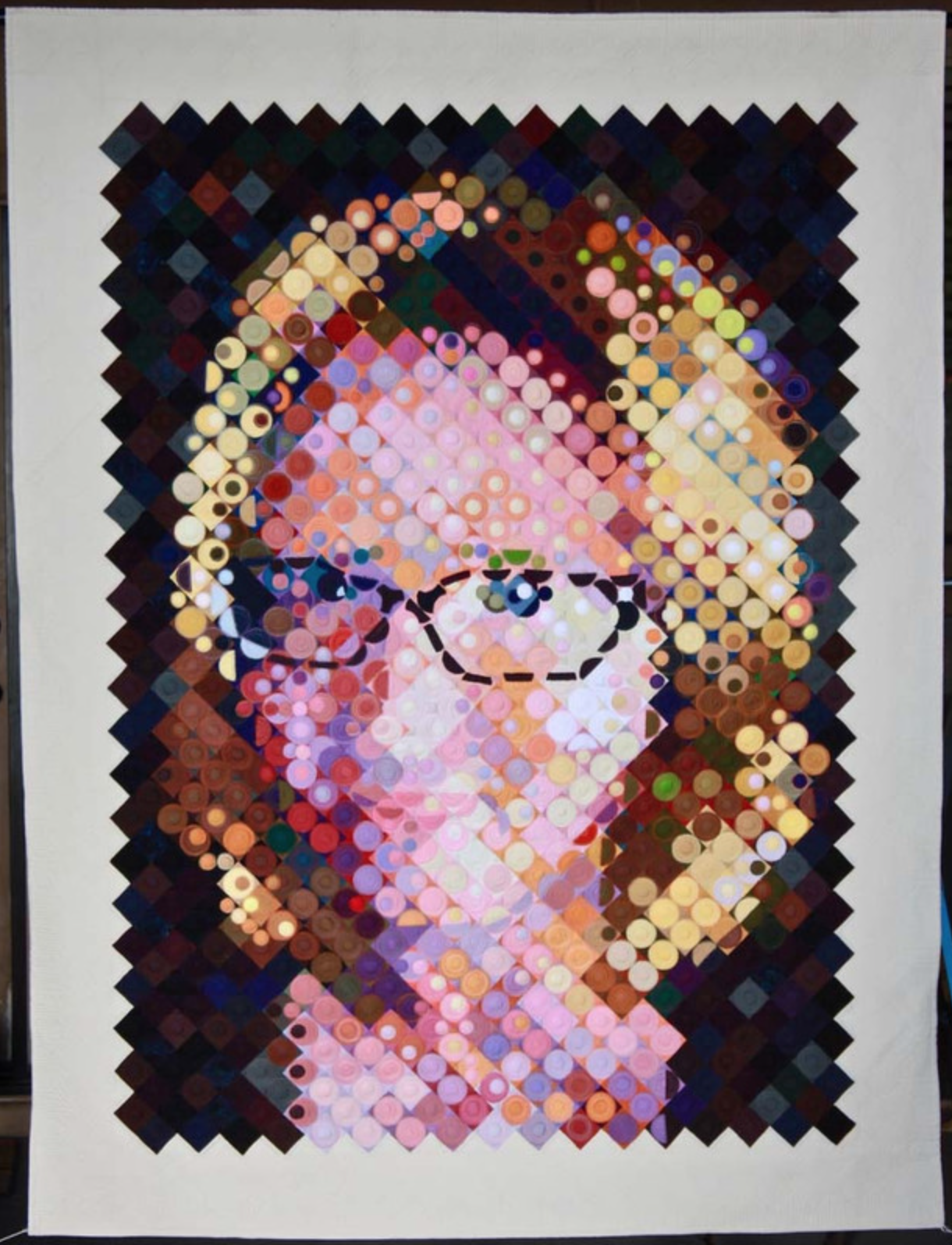 My Big Face by Cindy Stohn (Photo from Mancuso 2021 Spring Quilt Festival website)