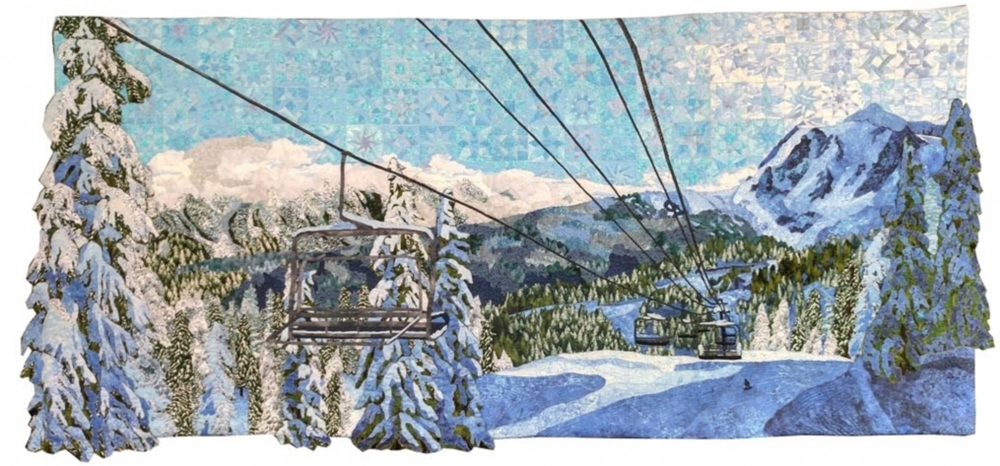 Snow Day by Angie Tustison (Photo from Mancuso 2021 Spring Quilt Festival website)