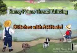 Thread Painting - Demonstration - Stitches with Attitude