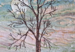 Thread Painting - Project 01 - Solitary Tree