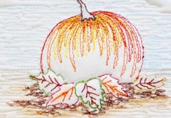 Thread Painting - Project 03 - Pumpkin Patch I (Thread Sketching)