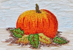 Thread Painting - Project 03 - Pumpkin Patch II (Thread Painting)