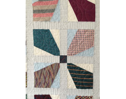 Toms Ties by Patrice Denault - Detail (Photo from Mancuso 2021 Spring Quilt Festival website)