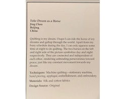 Take Dream as a Horse by Jing Chen - Sign