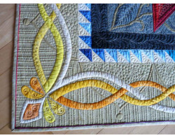 Rainbow Nouveau by Margaret Solomon Gunn - Corner (Photo from Margaret Solomon Gunn website - mainelyquiltsoflove.com)