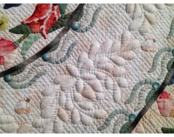 Crest of Tulip by Takido Fusako - Detail (Photo from Sew Fun 2 Quilt Blog)