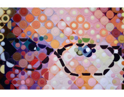 My Big Face by Cindy Stohn - Detail (Photos from Mancuso 2021 Spring Quilt Festival website)