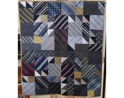 Silk Tie Quilt by Alex Anderson