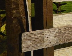 Ohio Barn in Early Morning Light by LeAnn Hileman - Detail (Photo from Mancuso Online Quilt Festival Website)