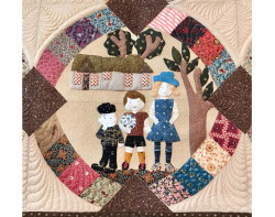Richland Oaks by Mel Dugosh - Detail (Photo from Mancuso 2021 Spring Quilt Festival website)
