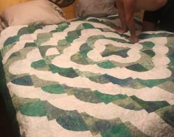 Austen & Kelsey Wedding Quilt - finished