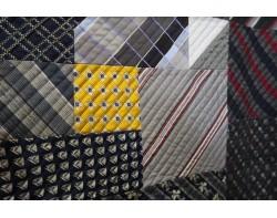 Silk Tie Quilt by Alex Anderson - Detail 1