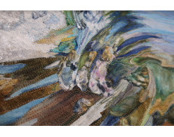 Blue Wave by Sandra Mollon - Detail 2