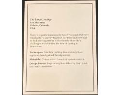 The Long Goodbye by Lea McComas - Sign