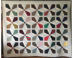 Toms Ties by Patrice Denault (Photo from Mancuso 2021 Spring Quilt Festival website)