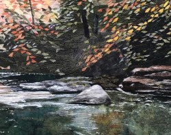 Tennessee Autumn by Nancy Hershberger - Detail (Photo from Mancuso Online Quilt Festival Website)