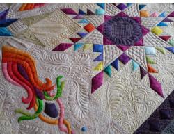 Rainbow Nouveau by Margaret Solomon Gunn - Detail 3 (Photo from Margaret Solomon Gunn website - mainelyquiltsoflove.com)