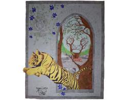 Tiger, Tiger by Kris Vierra (Photo by Kris Vierra from her website, quilterontherun.com)